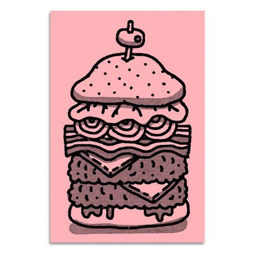 Mikey Burton's big burger.