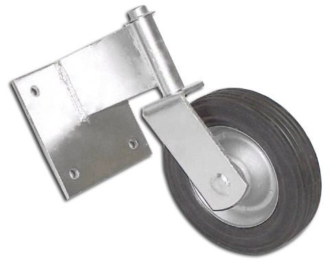 Wood Driveway Gate wheels | Swivel Swing Gate Wheels for Wooden and Flat Gates - Hoover Fence Co ...