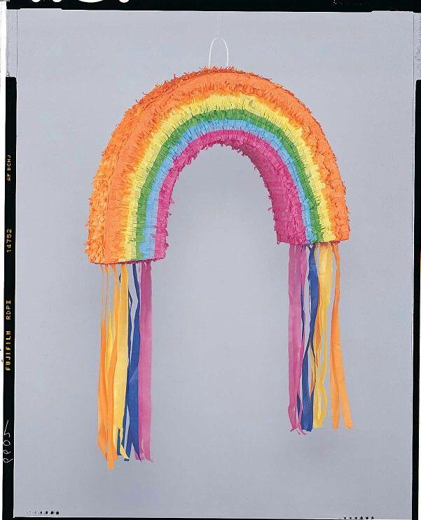 how to make a rainbow pinata