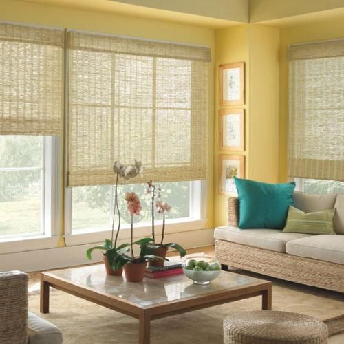 Levolor Natural Woven Wood Shades in Classic Natural. Woven Wood Shades combine the latest fabrics, textures, and patterns with exclusive, easy to operate light control options. Find them at Blinds.com.