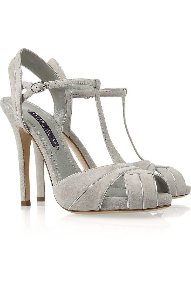 Ralph Lauren Collection|Jalie suede T-bar sandals|NET-A-PORTER.COM