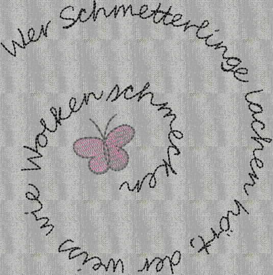 stickdatei schmetterling