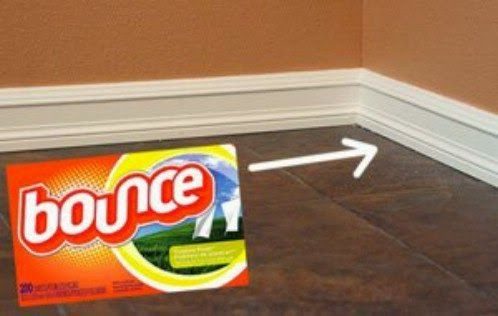 Life Hacks: Clean Baseboards and Trim w/ Bounce Sheets