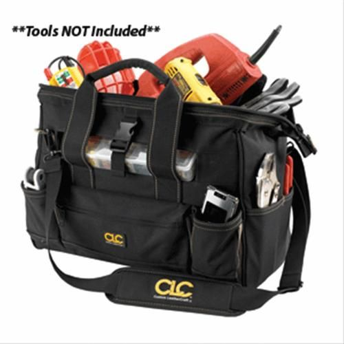 CLC 1534 16 Tool Bag w/ Top-Side Plastic Parts Tray