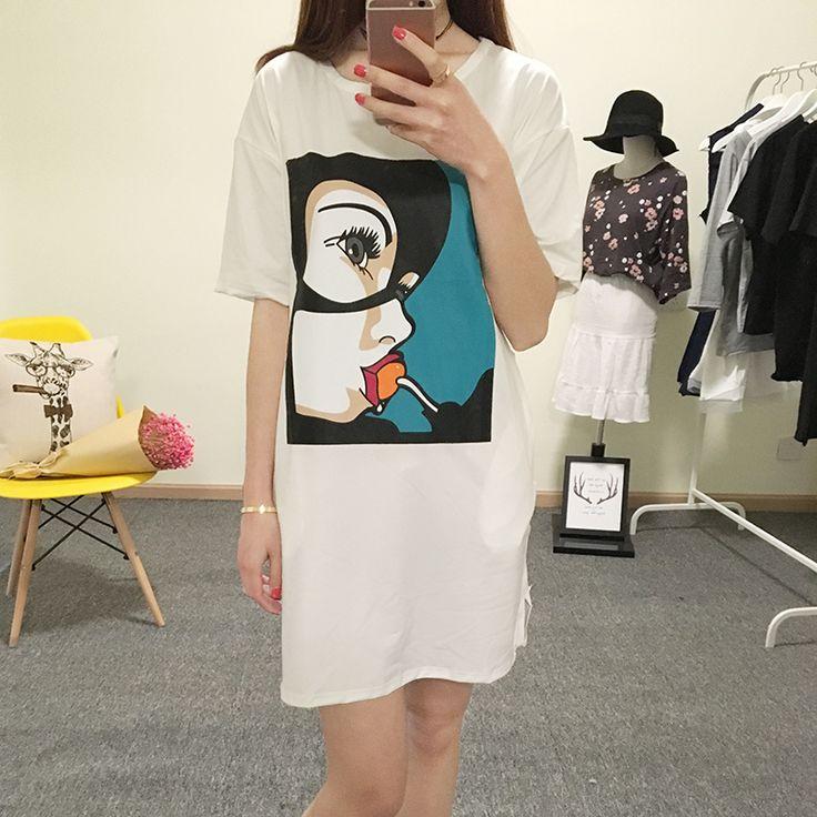 Aliexpress.com: Comprar 2016 Camiseta de Las Mujeres Vestido Ocasional Del…