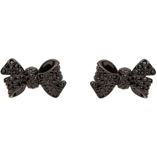 Mimco Mini Bow Stud Earrings ($23) found on Polyvore