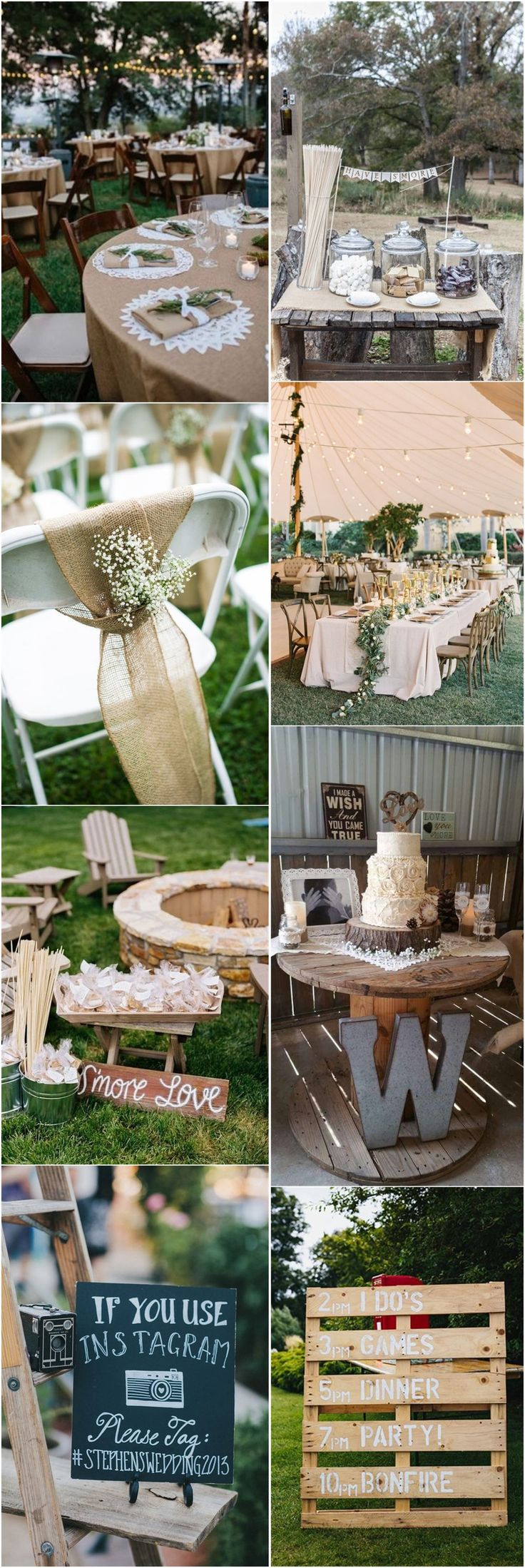 802 best rustic weddings images on pinterest outdoor for Outdoor wedding decorations on a budget
