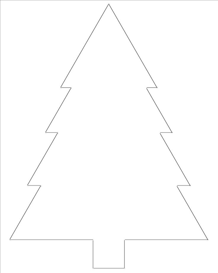 Christmas tree outline for crafts, coloring, etc.