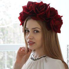 красные цветы в волосы украшения - Поиск в Google