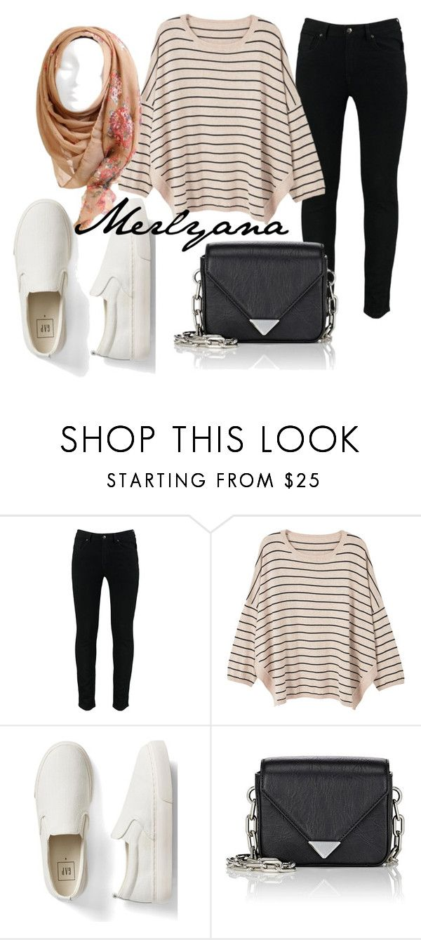"""3.2"" by merlyana-dwi-hapsari on Polyvore featuring MANGO, Gap and Alexander Wang"