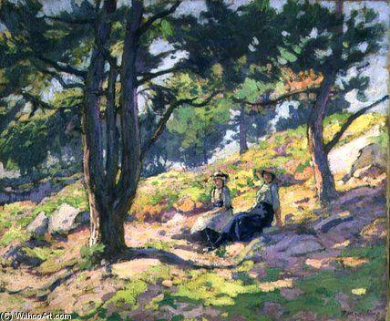 Bouquet d arbres de Paul Madeline (1863-1920, France)