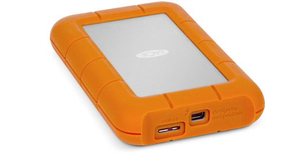 LaCie Rugged Dual Interface (Thunderbolt, USB3.0) 256GB SSD Portable Hard Drive