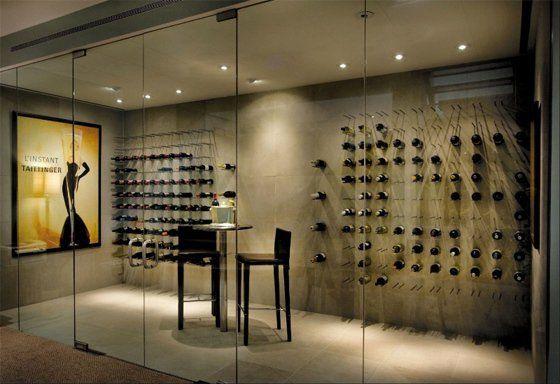 Modern home wine cellar design