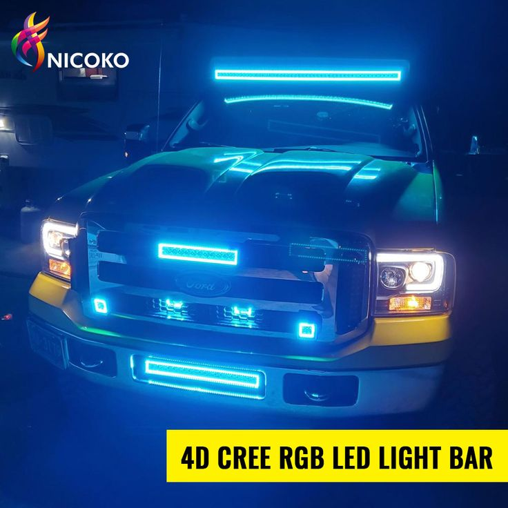 Nicoko 20 126w Cree Leds Flood Spot Combo Beam Light Bar With Chasing Rgb Halo You Get Extra 9 00 Coupo In 2020 Led Light Bars Off Road Led Lights Led Driving Lights