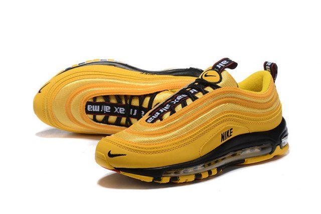 Nike Air Max 97 Premium Yellow Black 312834 700 Sneaker ...