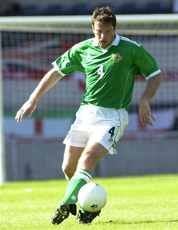 Green machine: Gerry Taggart in his Northern Ireland days