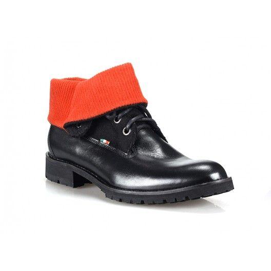 Čierne pánske kožené topánky COMODO E SANO - fashionday.eu