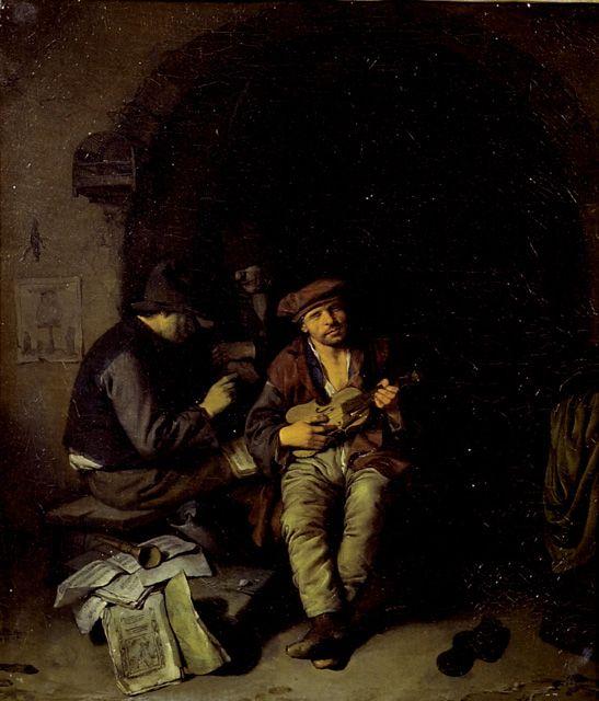 Бега Корнелис Питерс (Bega, Begga, 1620-1664) - Слепой скрипач (University of Oxford - Ashmolean Museum)