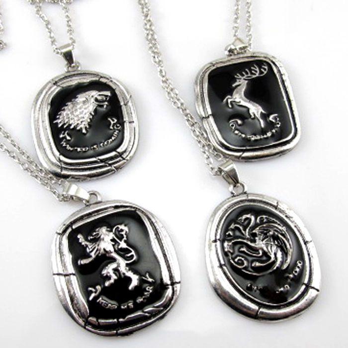 Hot Game OF Thrones Styles- WOLF, DRAGON, FOUR Houses Clans Pendant Necklace New #new #Pendant