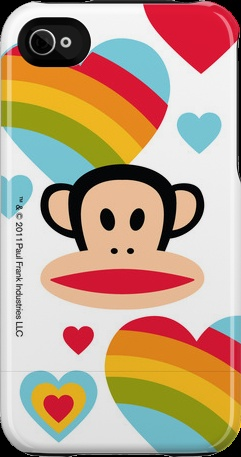 """Rainbows Are Magic"" iPhone 4/4S Capsule Case by Paul Frank http://www.getuncommon.com/collections/943/"