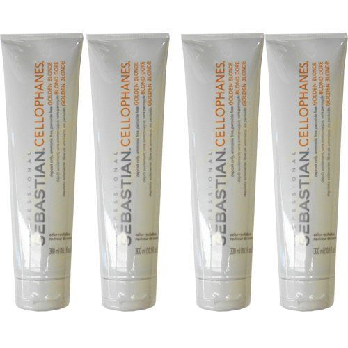Sebastian Cellophanes Hair Color, Golden Blonde (Pack of 4) by SEBASTIAN. $52.90. Sebastian Laminates Cellophanes Hair Color is peroxide Free, ammonia free, reflective shine. Laminates Cellophanes professional service gives you a reflective brilliance and a gorgeous color for the look and feel of healthy quality hair with a wow-factor. Infused with non-oxidative FDA-cosmetic dyes and UV-light inhibitors in a protein enrched formula with Color Shine Acid Complex, Cello...