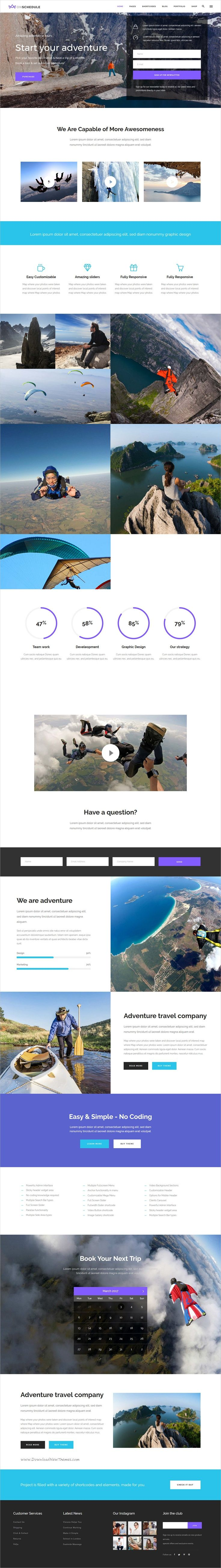 OnSchedule is an excellent 12in1 responsive #WordPress theme for #journey #tour bu…