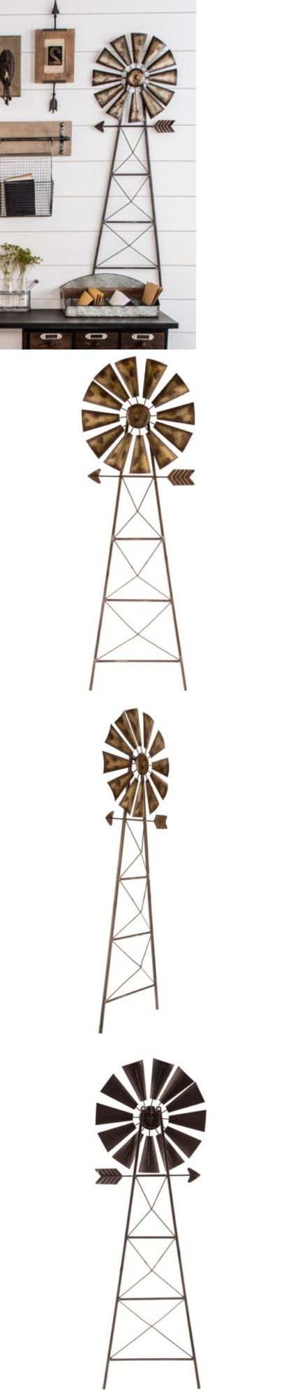 Wall Sculptures 166729: Rustic Metal Windmill Wall Decor Western Ranch Barn Farmhouse Large 43 X 14 -> BUY IT NOW ONLY: $49.99 on eBay!