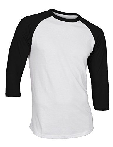 Men's Plain Raglan 3/4 Sleeve Athletic Baseball Jersey T-... https://www.amazon.com/dp/B01K1ULJLM/ref=cm_sw_r_pi_dp_x_h3YcybAPNFZZ6