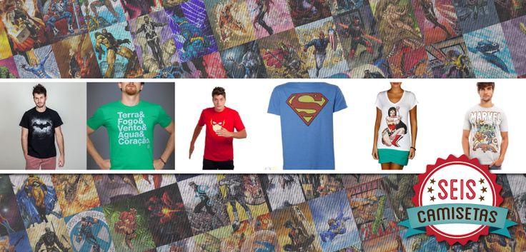 Seis Camisetas de Super-Heróis | T-shirt News