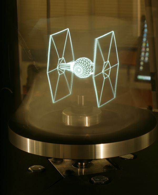3D holographic technology brings TIE fighter to life