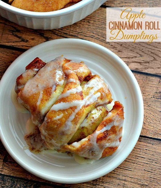 This Easy Cinnamon Roll Apple Dumplings Recipe takes less than an hour and makes the most amazing Apple Dumplings dessert! Sure to become a family favorite!