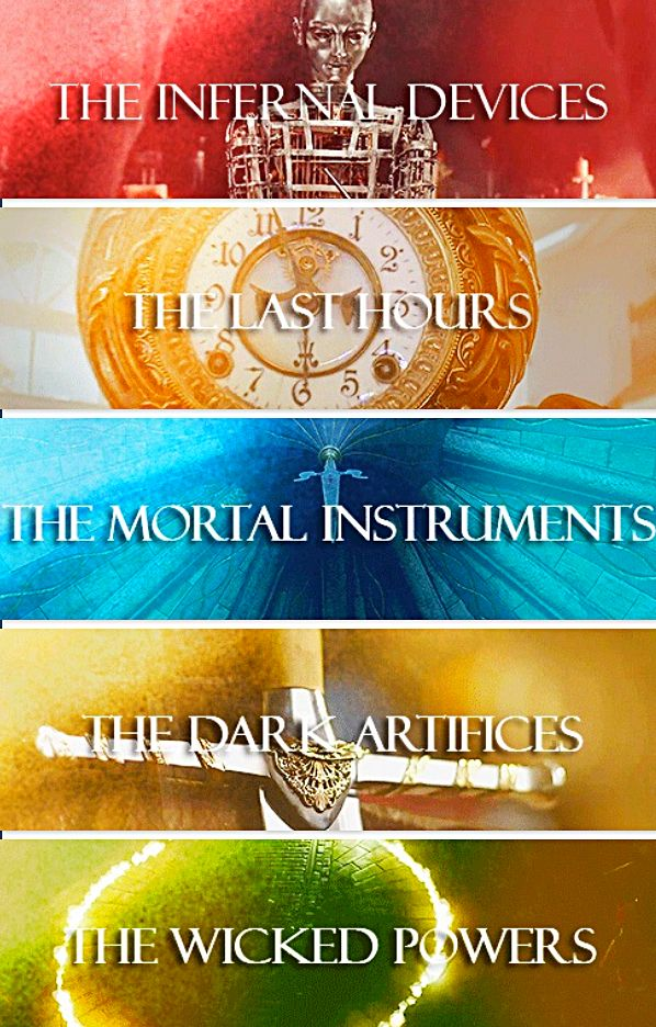 Book series by Cassandra Clare - #Shadowhunters #tmi #themortalinstruments