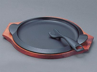南部鉄器・ステーキ皿・岩鋳