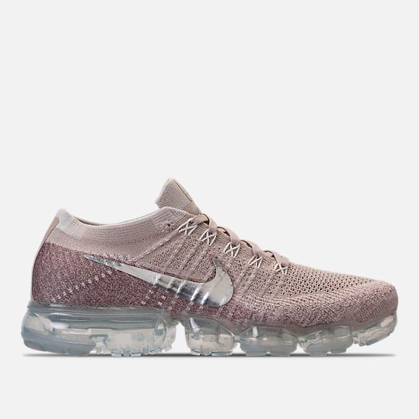 5fc41526aa1 Right view of Women s Nike Air VaporMax Flyknit Running Shoes in String  Chrome Sunset Glow Taupe