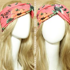 Peach Peony Turban Headband  idr 65,000 or $6.5  FREE ongkir seluruh Indonesia ✈️ shipping worldwide  LINE : reginagarde  shop online www.reginagarde.com