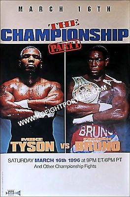 Mike tyson  vs  #frank bruno  2 / original don king ppv #boxing fight #poster,  View more on the LINK: http://www.zeppy.io/product/gb/2/131687049483/