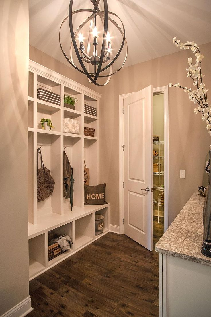 Nice Family Foyer With Bench And Storage Cubbies; The Monticello Floor Plan,  Drees Homes,