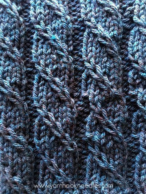 Tricotado trançado tricô ponto com padrão gratuito Link - fio