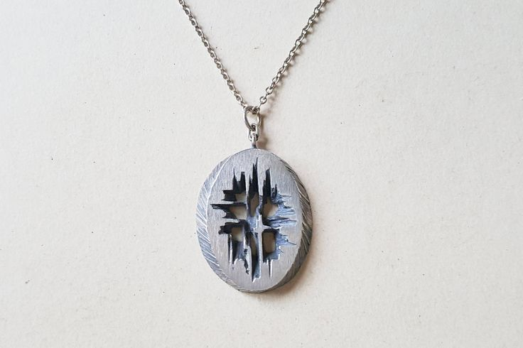 Karl Laine, Large Modernist silver pendant, Sten & Laine, Finland, 1973 (F1059B)