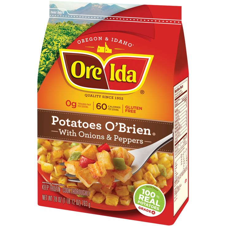 Future family favorite! Try this delicious casserole recipe featuring tangy cheddar cheese blended with Ore-Ida® Potatoes O'Brien and Ore-Ida® Chopped Onions.
