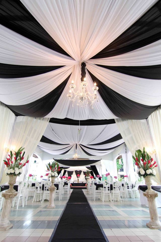Black and white #ceiling #satin #drapery fabric available at www.libafabrics.com