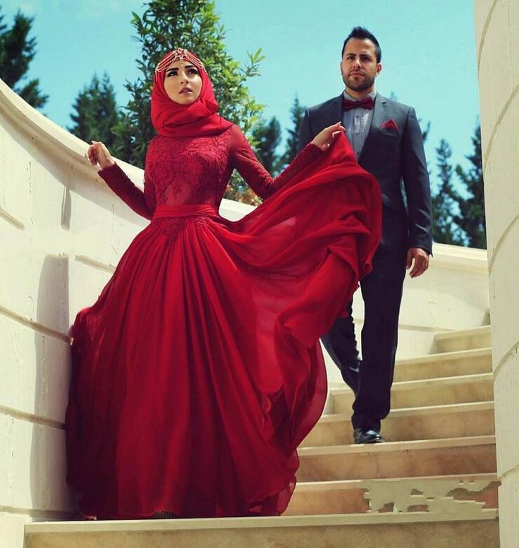Find More Wedding Dresses Information about Long Sleeve Muslim Wedding Dress 2016 New Long Sleeve Red…