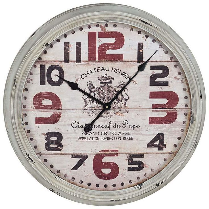 Great metal retro wall #clock. www.inart.com