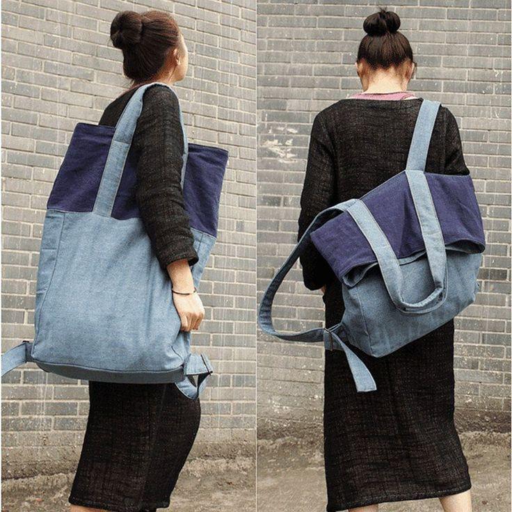 Borsa - Il nuovo modo misto di colore zaino e borsa a tracolla (biancheria Material)