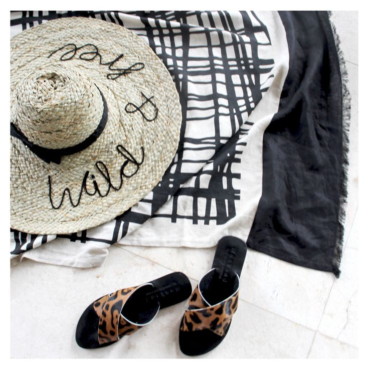 Handmade Hat, Linen Towel and London Shoes - Weekend by Project Fifteen  Summer fashion for stylish woman.