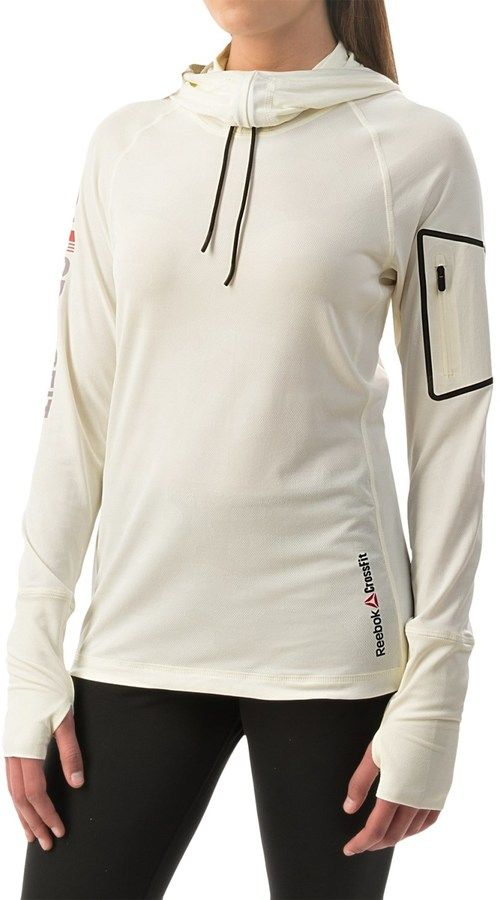 Reebok CrossFit® Cordura® Jacquard Hoodie - Slim Fit (For Women), weiss, white, Fitness Fashion Trends Crossfit Women Mode Frauen Sport #fitness #fashion #trends #crossfit #women #clothes #reebok #clothing #frauen #sport #mode - trendy CrossFit Outfits for her - CrossFit Outfits für Sie. Von Schuhen über Bekleidung bis hin zu Accessoires.