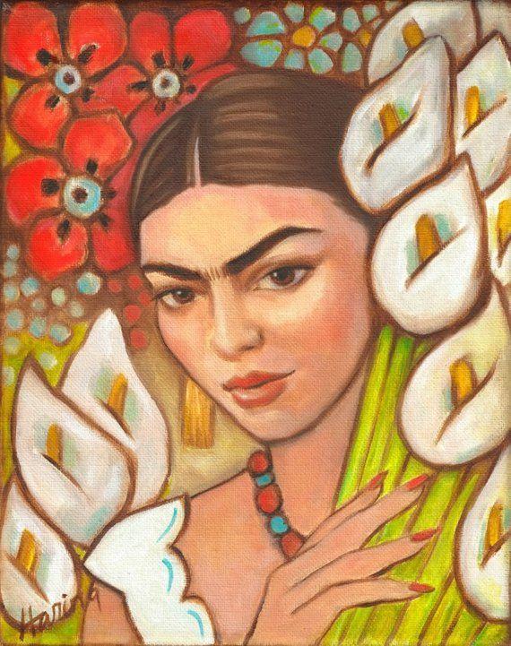 Arte Mexicano Impresion Lienzo Wrap Mexican Folk Art Gran Pintura