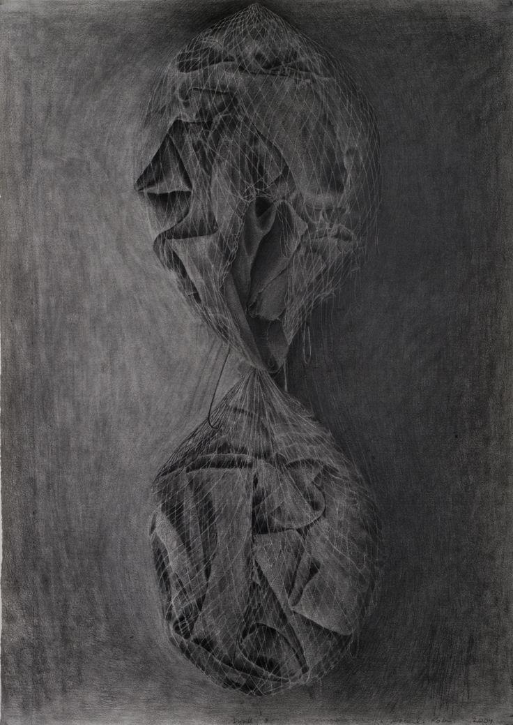 Amanda Robins, Dyad 3, pencil on arches, 2010