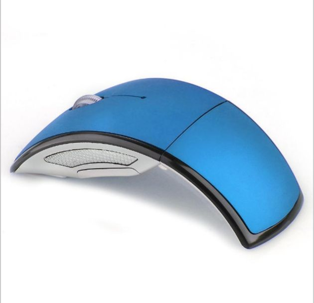 Mini USB 2.4G Wireless USB Optical Foldable Arc Mouse Snap-in Transceiver Portable Folding Mice for Laptop PC Computer