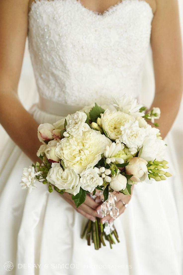 Beautiful and elegant white bridal bouquet